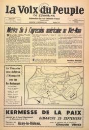 Voix Du Peuple De Touraine (La) N°1311 du 11/09/1966 - Couverture - Format classique