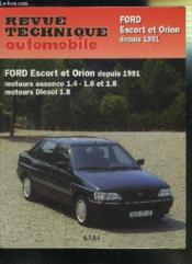 Rta 717.3 Ford Escort Et Orion (91/96)/D-Td (91/95) - Couverture - Format classique