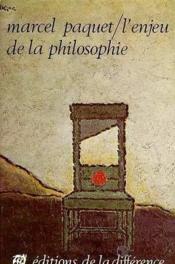 Enjeu De La Philosophie (L') - Couverture - Format classique