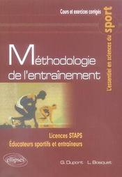 Méthodologie de l'entraînement - Intérieur - Format classique
