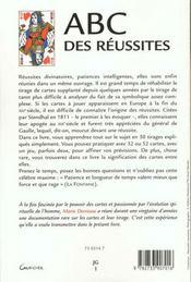 Abc Des Reussites - 4ème de couverture - Format classique