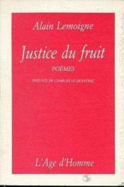 Justice Du Fruit - Couverture - Format classique