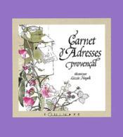 Mini-carnet d'adresse provençal - Couverture - Format classique