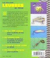 Les Meilleurs Leurres De Peche ; Eau Douce - 4ème de couverture - Format classique