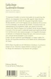 Derniere Femme (La) - 4ème de couverture - Format classique