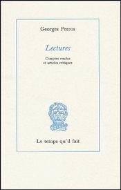 Lectures ; comptes rendues et articles critiques - Couverture - Format classique