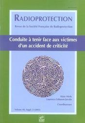 Radioprotection Conduite A Tenir Face Aux Victimes - Intérieur - Format classique