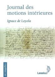 Journal des motions intérieures - Couverture - Format classique