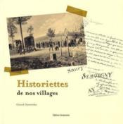 Historiettes de nos villages - Couverture - Format classique