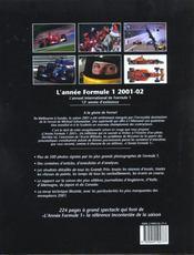 Annee Formule 1 2001-2002 - 4ème de couverture - Format classique
