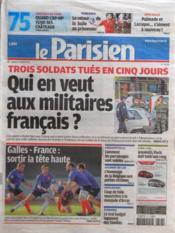 Parisien 75 (Le) N°20998 du 17/03/2012 - Couverture - Format classique