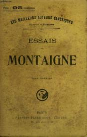 Essais De Montaigne. Tome 1. - Couverture - Format classique