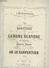 72° Bagatelle Sur La Dame Blanche - Pour Le Piano. - Couverture - Format classique