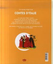 Contes d'Italie - 4ème de couverture - Format classique