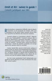 Droit et RH : suivez le guide ; conseils juridiques aux DRH t.3 ; les mesures d'accompagnement des mutations économiques - 4ème de couverture - Format classique