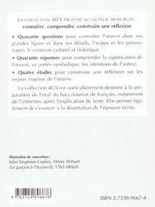 La Naissance Des Objets Mathematiques No6 - 4ème de couverture - Format classique