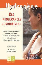Ces Intolerances Ordinaires - Couverture - Format classique