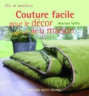 Couture facile pour le décor de la maison - Couverture - Format classique