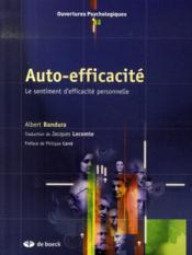 Auto-efficacité ; le sentiment d'efficacité personnelle - Couverture - Format classique