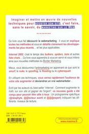Internet 2002 - Le Webmarketing En Action Tout Pour Booster Son Site - 4ème de couverture - Format classique