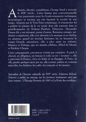 L'Art De Vivre Au Temps De George Sand - 4ème de couverture - Format classique