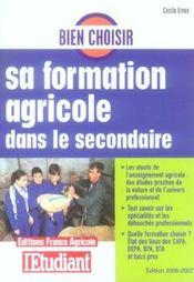Bien Choisir Sa Formation Agricole Dans Le Secondaire 2006 - Intérieur - Format classique