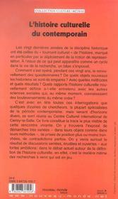 L'Histoire Culturelle Du Contemporain - 4ème de couverture - Format classique