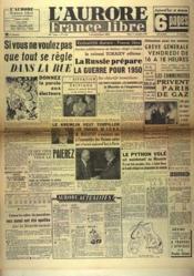 Aurore France Libre (L') N°1251 du 21/09/1948 - Couverture - Format classique