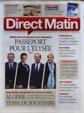 Direct Matin N°1051 du 16/03/2012 - Couverture - Format classique