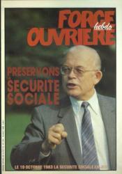 Force Ouvriere N°1761 du 16/08/1983 - Couverture - Format classique