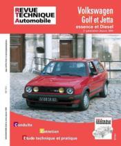 Rta 719.1 Vw Golf Et Jetta Ii E-D Et Td (84-92) - Couverture - Format classique