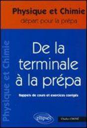De La Terminale A La Prepa ; Rappels De Cours Et Exercices Corriges - Intérieur - Format classique