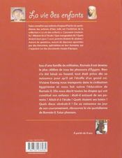 Ramses Ii, Futur Pharaon - 4ème de couverture - Format classique