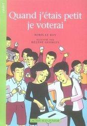 Quand j'étais petit, je voterai - Intérieur - Format classique