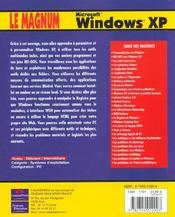Le Magnum Windows Xp - 4ème de couverture - Format classique