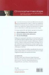 Chronopharmacologie - 4ème de couverture - Format classique