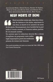 Neuf Morts Et Demi - 4ème de couverture - Format classique