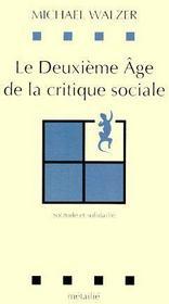 Le deuxième âge de la critique sociale - Couverture - Format classique