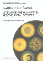 Savoirs et litterature. litterature, the humanities and the social sc iences - Intérieur - Format classique