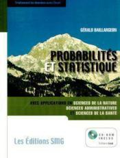Probabilites Et Statistique Avec Applications En Sciences De La Nature, Sciences Administratives & S - Couverture - Format classique