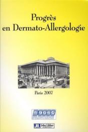 Progres En Dermato-Allergologie - Paris 2007 - Couverture - Format classique
