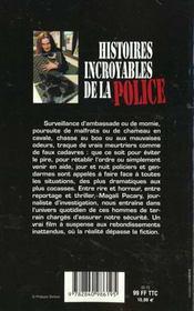 Histoires Incroyables De La Police T.1 - 4ème de couverture - Format classique