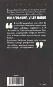 Villefranche Ville Noire - 4ème de couverture - Format classique