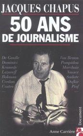 50 ans de journalisme - Intérieur - Format classique