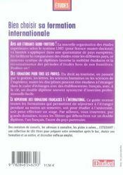Bien choisir sa formation internationale (edition 2006) - 4ème de couverture - Format classique