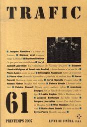 Revue Trafic T.61 ; Trafic - Intérieur - Format classique