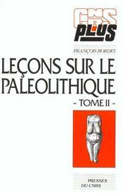 Lecons Sur Le Paleolitique Ii - Intérieur - Format classique