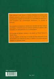Biologie Cellulaire Pcem - Pharmacie - Deug - 4ème de couverture - Format classique