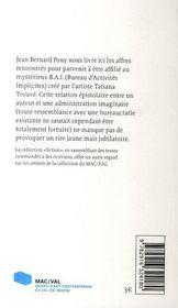 Pouy-trouvé ; tentative d'affiliation - 4ème de couverture - Format classique
