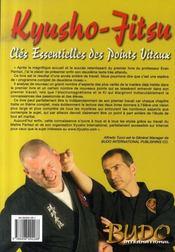 Kyusho-jitsu, clés essentielles des points vitaux - 4ème de couverture - Format classique